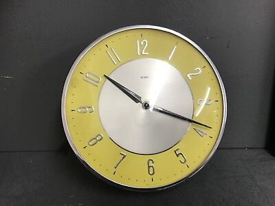 Metamec clock Vintage 1950s Mid Century Electric Retro Wall untested parts prop