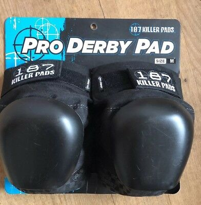 Female 187 Pro Derby Knee Guards/ Knee Pads Size M
