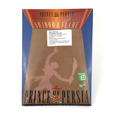 Prince Of Persia 2 The Shadow & The Flame Dro Soft Diskette 3½ Ibm Ms Dos Pc Vgc