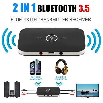 2 in 1 Audio ricevitore e trasmettitore Bluetooth adattatore 3.5MM per TV MP3 PC
