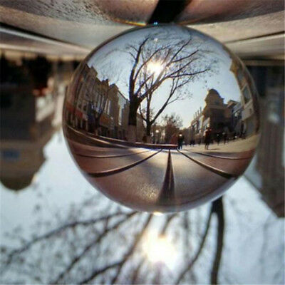 100mm Clear Magic Glass Crystal Ball Healing Sphere Photography Props Gift Decor