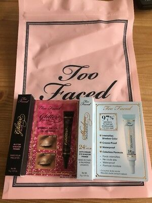 Too Faced Glitter Glue And Shadow Insurance 5g Each