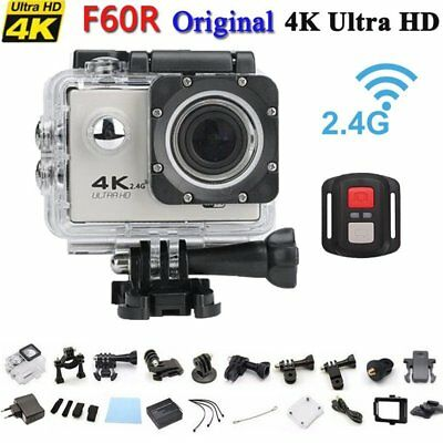 Wasserdicht 4K HD 1080P Wifi Wireless ActionCam Kamera Sport DV Camcorder Grau