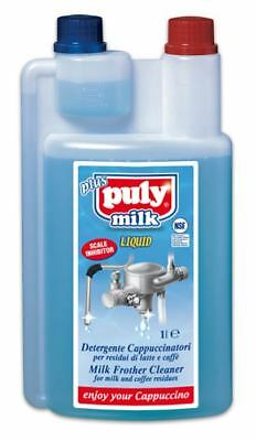Puly Caff Milk Frother Liquid Steam Cleaner & Descaler 1Litre -Coffee- Detergent