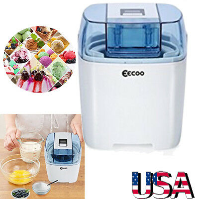Electrical Soft Serve Ice Cream, Frozen Yogurt and Sorbet Maker Machine 1.5L US