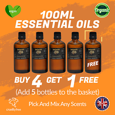 Essential Oils & Aromatherapy 100ml Essential Oil Drop Down Choose Scent