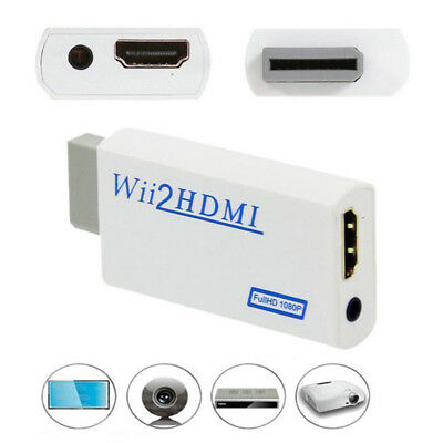 HD Wii To HDMI 1080P/720P Upscaling Converter Adapter Connector With 3.5MM  FO