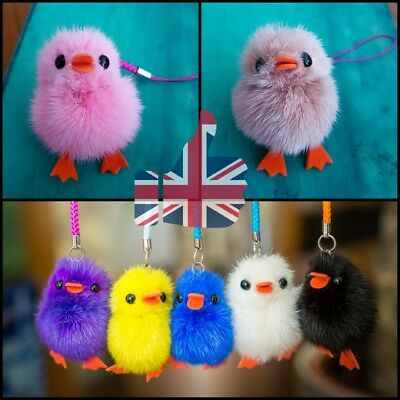 Chick Backpack Charm School Case Cute Girls Boys Tag Keyring Loop Zip Soft Small