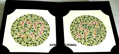 ISHIHARA COLOR BLINDNESS Optometry Test Book 38 Plates Latest ...