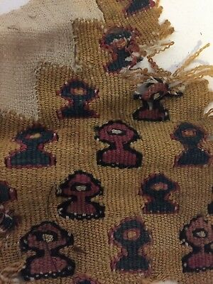 PRECOLUMBIAN Pre INCA TEXTILE FRAGMENT COLLECTED APPROX 50 YEARS AGO #3