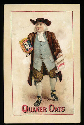 109 Yr Old Antique Advertising Post Card Quaker Oats Logo / Cereal, William Penn