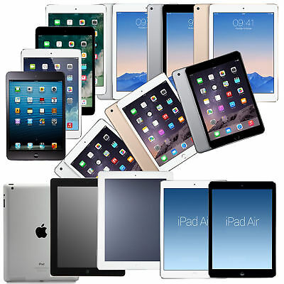 Apple iPad 5, iPad 4, iPad 3, iPad 2 GSM Or Verizon Unlocked iOS iPad