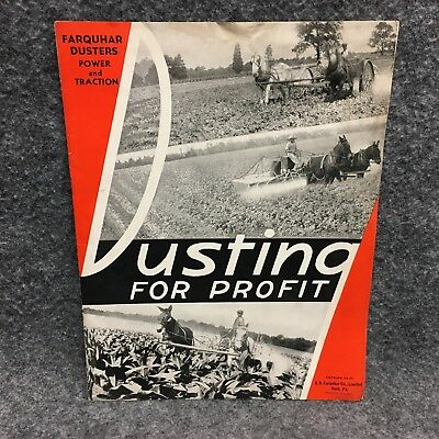 1939 ? Farquhar Duster Power & Traction Catalog DS-39 Dusting For Profit Booklet