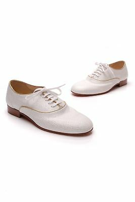 cheap for discount a4f8a fa2c4 CHRISTIAN LOUBOUTIN ALFRED Men's Dress Shoes - White/Gold (Size 9US)
