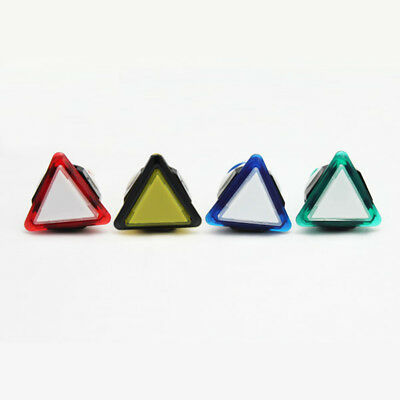 Arcade Triangular Illuminated LED Push Buttons with micro-switch for JAMMA Mame