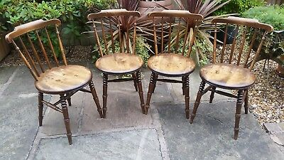 4 Late Victorian Dining Chairs by IBEX, excellent condition.