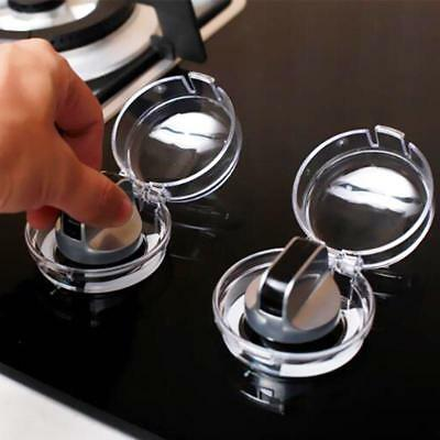 8pcs Clear Childproof Oven Gas Stove Control Switch Knob Safety Protection Cover