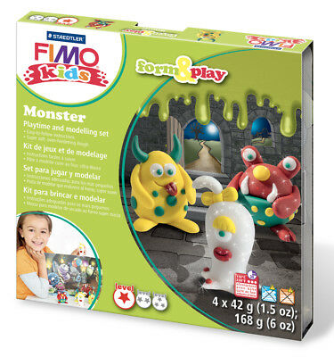 Fimo Kits For Kids Form & Play Polymer Modelling Oven Bake Clay SET Monster