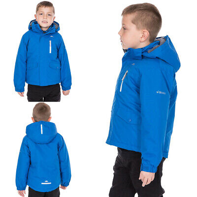 Boys Trespass Ballast Padded Waterproof Casual Jacket Kids School Raincoat