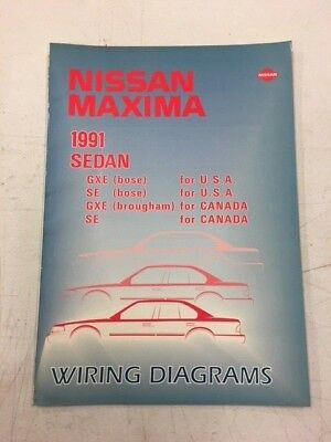 1991 nissan maxima gxe se factory shop service repair wiring diagrams manual