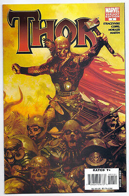 (2007) Thor #1 Variant Edition Zombie Cover Oliver Coipel Art! Jms! Nm