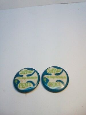 VINTAGE 1960'S ANTI-VIETNAM - SUPPORT PEACE... W/DOVE - BUTTON PIN-BACK lot