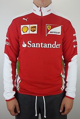 Puma Scuderia Ferrari Formel 1 SF Team Half-Zip Fleece Sweater Sweatshirt Rot