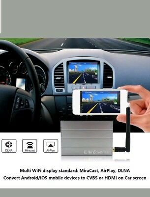 MiraScreen Car WiFi Display Dongle WiFi Mirror Box Airplay Miracast DLNA GPS ST