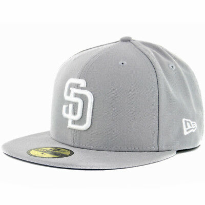 0f78d249f7aba NEW ERA 59FIFTY San Diego Padres GY WH Fitted Hat (Grey White) Men s ...