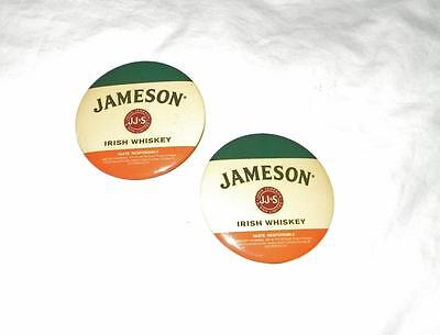 "Euc Lot Of 2 Jameson Irish Whiskey 3"" Buttons Pins~Jj & S Ltd ~Free Us Ship"