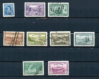 Canada Used Lot 1940s Various Incl Peace Issue KGVI G380
