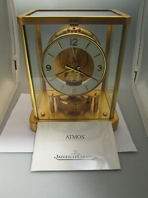 RARE jaeger lecoultre atmos Clock Cal 540    Numeral numbers (13) JEWELS GOLD