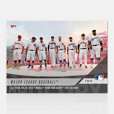 221 Total Hrs At 2018 T-Mobile Home Run Derby Sets Record - Mlb Topps Now® Card