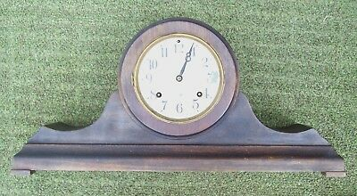 Antique NEW HAVEN Mantle Clock  Single Chime  PARTS OR RESTORATION