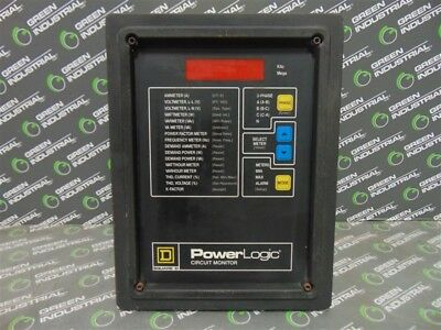 USED Square D 3020 CM-2250 Power Logic Digital Circuit Monitor with VPM-277-C1
