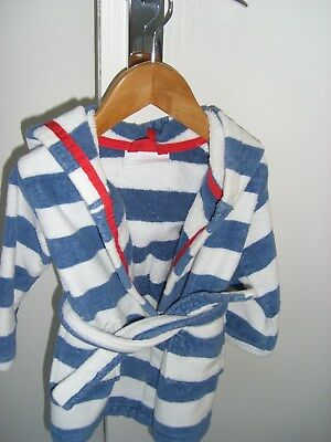 The Little Whie Company Infants Bath Robe Age 12-18 Months
