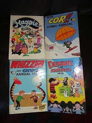 Dennis Menace Whizzer Chips Cor Magpie Annual 1975 1976