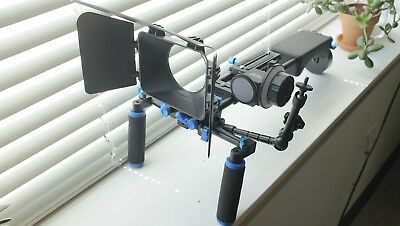 Neewer Shoulder Rig w/ Matte Box, Follow Focus, Monitor Arm, and Weight