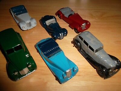 Dinky Job Lot Of 6 Old Cars.