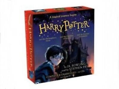 NEW Harry Potter Audio Books Collection J K Rowling read by Stephen Fry 25 CDs