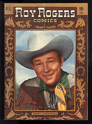 Roy Rogers (1948) #37 1st Print Dell Movie Cowboy Classic Roy Christmas CV VG/FN