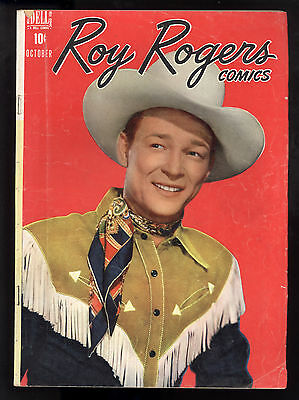 Roy Rogers (1948) #10 1st Print Dell Movie Cowboy Smiling Roy Portrait Cover VG