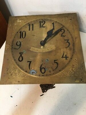 Antique German Wag On The Wall Clock Movement Cherub Dial Restoration Project