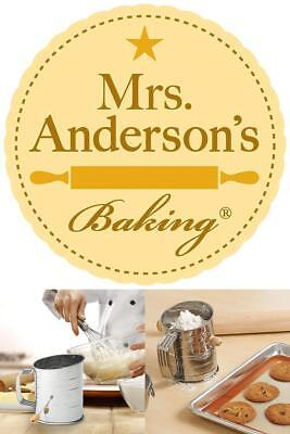 Mrs Anderson's Baking Hand Crank Flour Icing Sugar Sifter, Stainless Steel 3-CUP