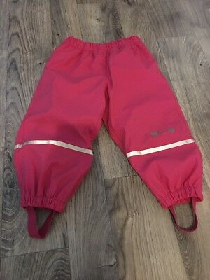 Lupilu Girls Pink Waterproof Trousers 12-18 18-24 1-2 Years