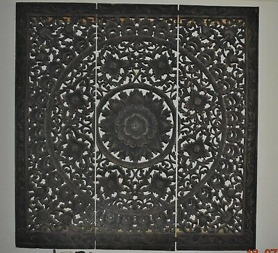 Beautiful carved indian wooden panel