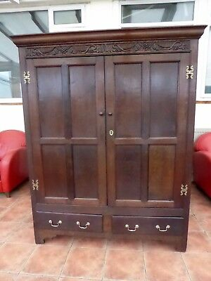 Country Oak  Hall Cupboard 1740  Free Shipping To England