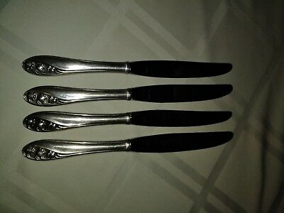 4 Lily of the Valley Knives/Knife by Gorham Sterling Silver Handle 8-7/8 inch