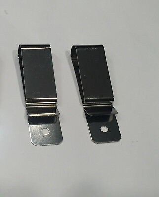 "Set of 2 New Belt Holster Metal Spring Hardware Clips 7/8"" x 2 7/8"" 2.2 x 7.3 cm"