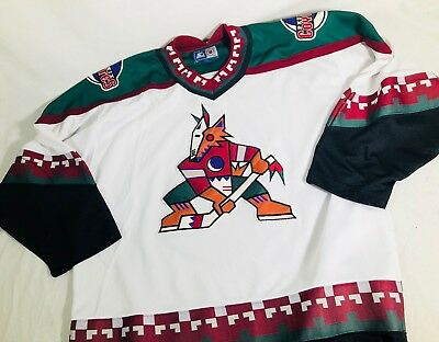 VINTAGE RETRO PHOENIX Coyotes Sweater Mens XL 90s NHL Hockey Nutmeg ... 20bad5ad6